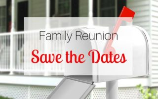 Family Reunion Save the Dates