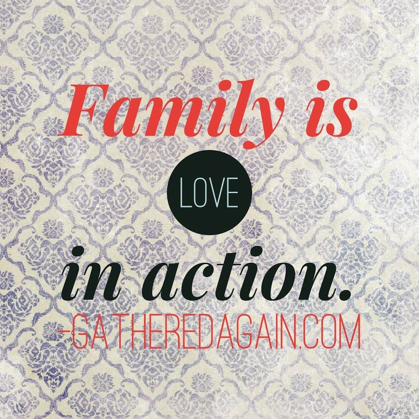 Family is love in action.