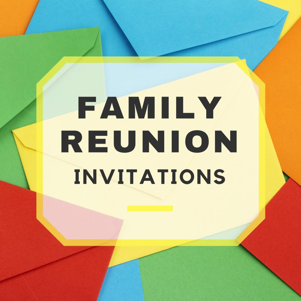Gathered Again  Family Reunion Invitation Cards