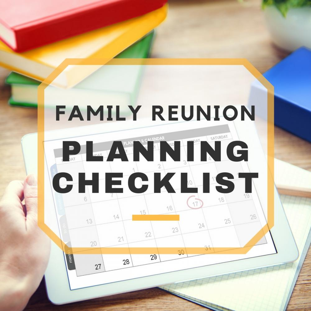 Family reunion planning checklist pronofoot35fo Image collections
