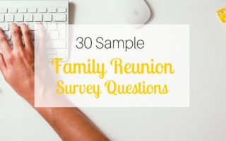 30 Sample Family Reunion Survey Questions