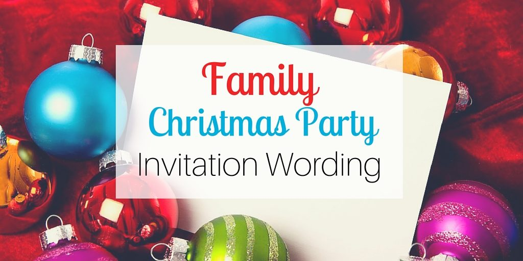 No Kids Wording On A Company Christmas Party