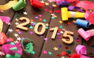 New year 2015 decoration,Closeup.