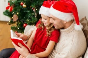 family, christmas, x-mas, winter, happiness and people concept -