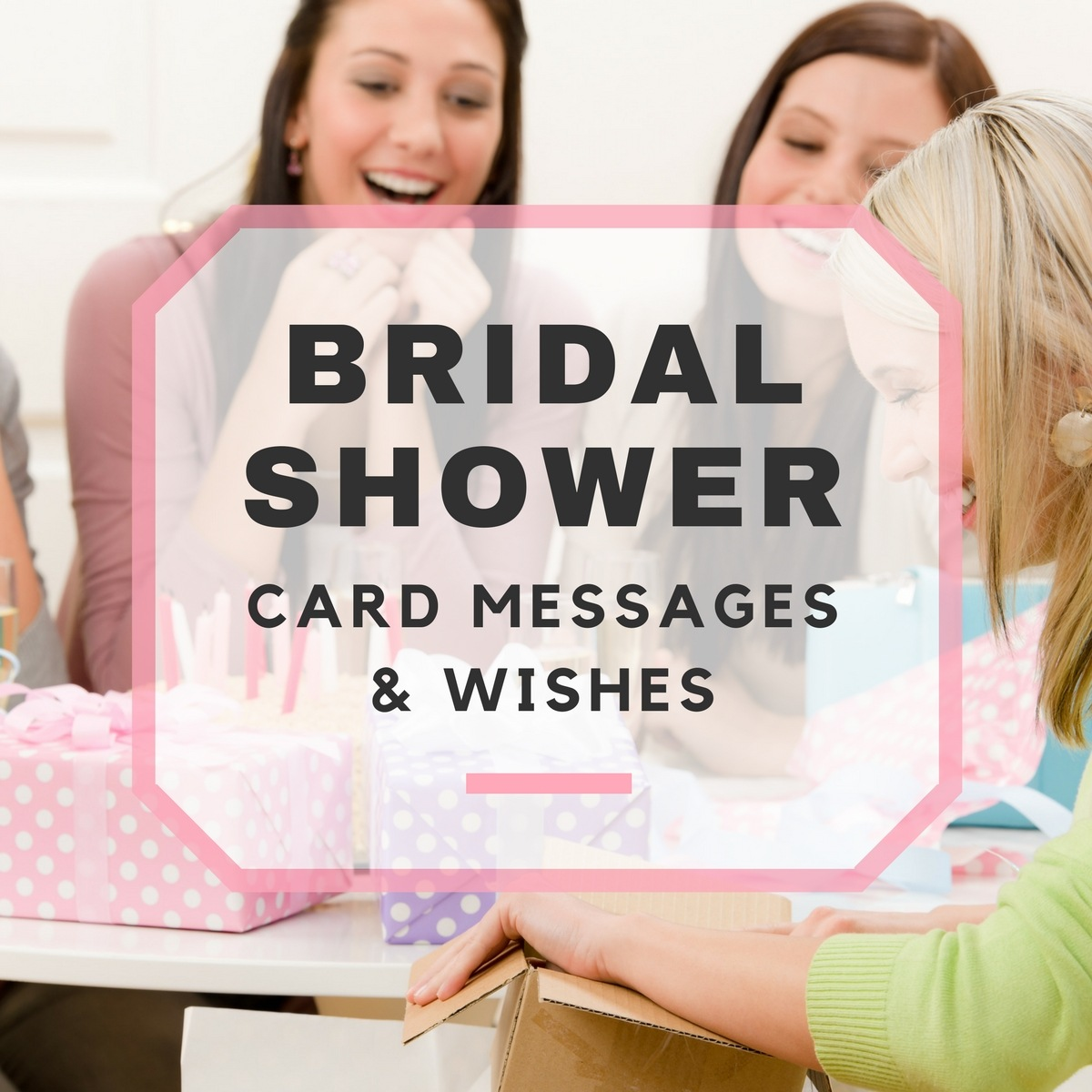 bridal shower card messages wishes