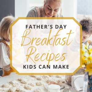 kids cooking Father's Day breakfast