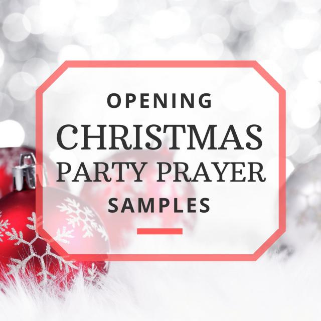 Opening Prayer Samples for Your Christmas Party