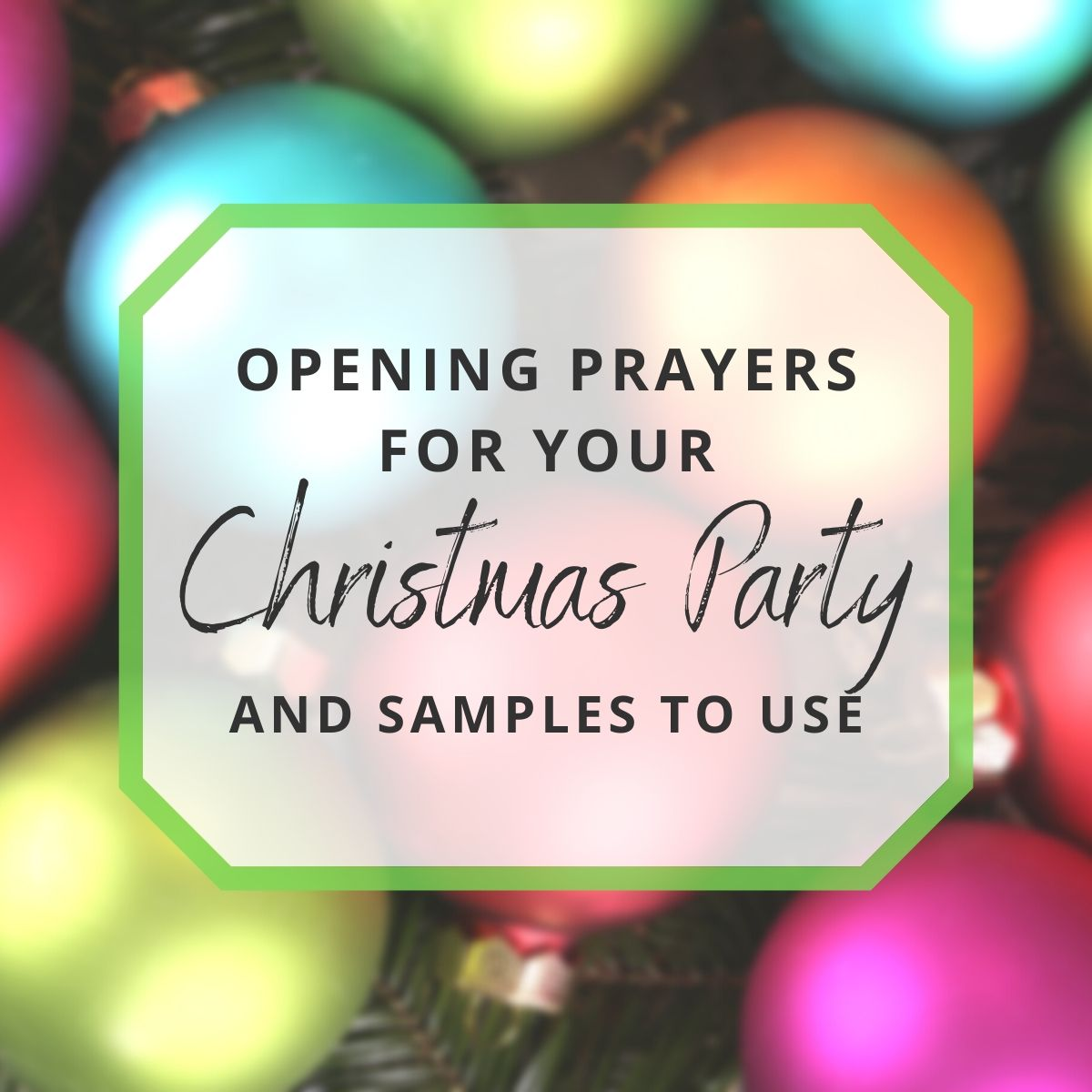 Sample Opening Prayers for Your Christmas Party