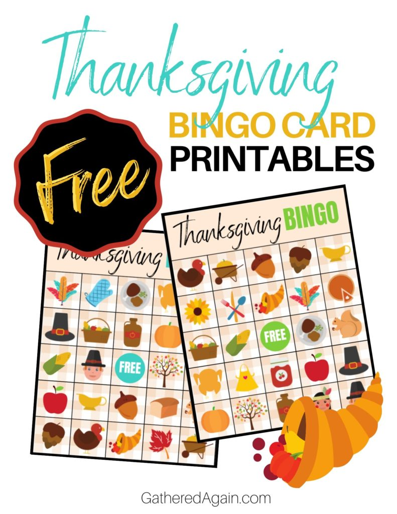 Free Thanksgiving Bingo Card Printables