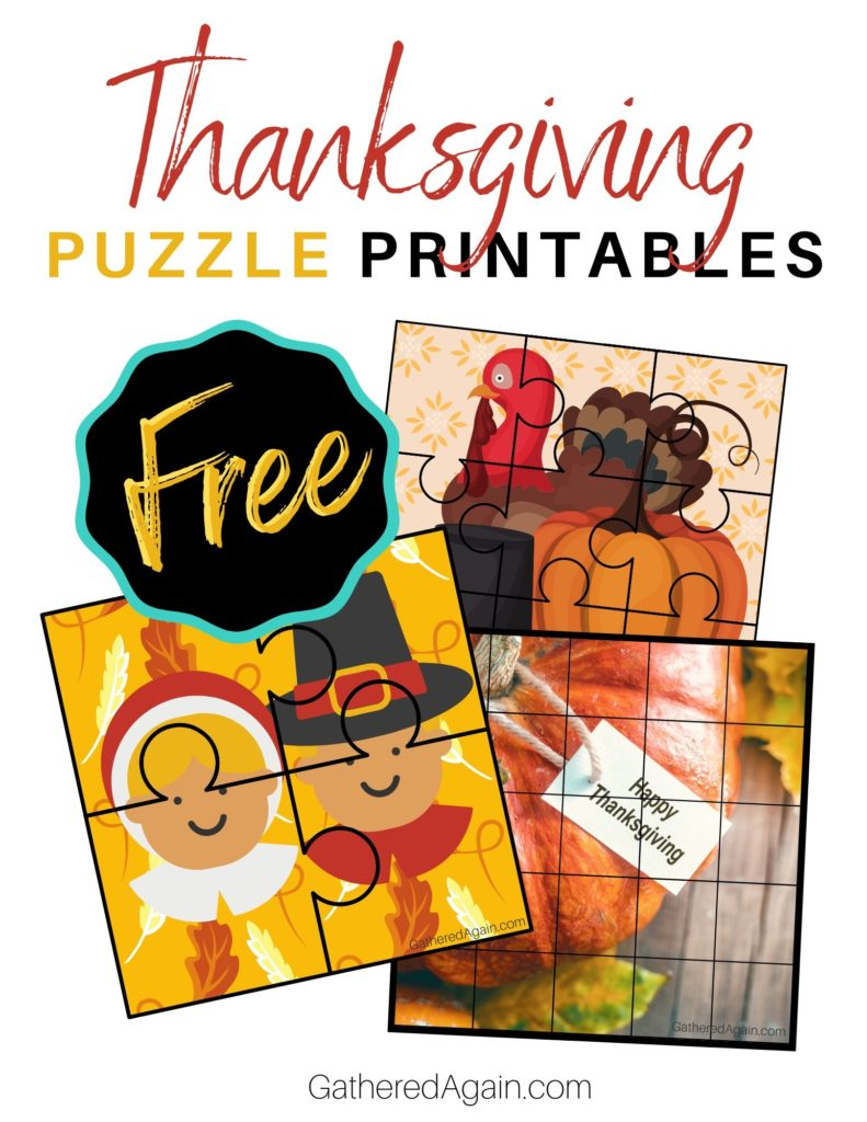 Free Thanksgving Puzzles Printables