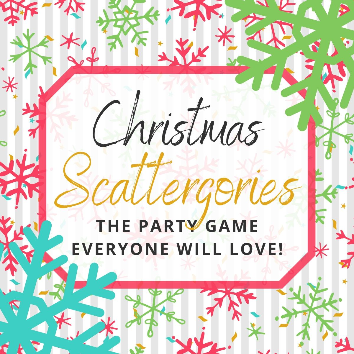 Christmas Scattergories Your Family Will Love Playing Free Printables