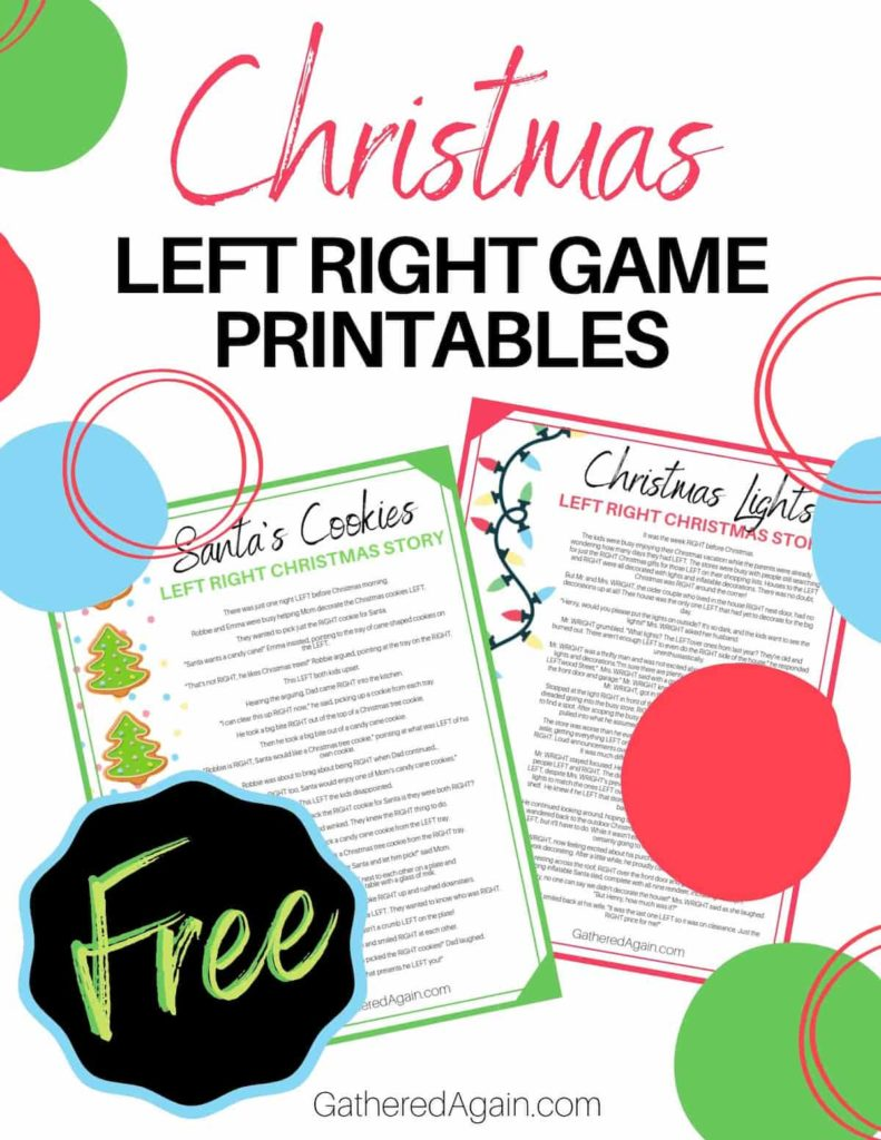 The Left Right Christmas Game Your Next Christmas Party Needs