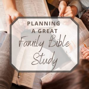 a top view photo of a family bible study