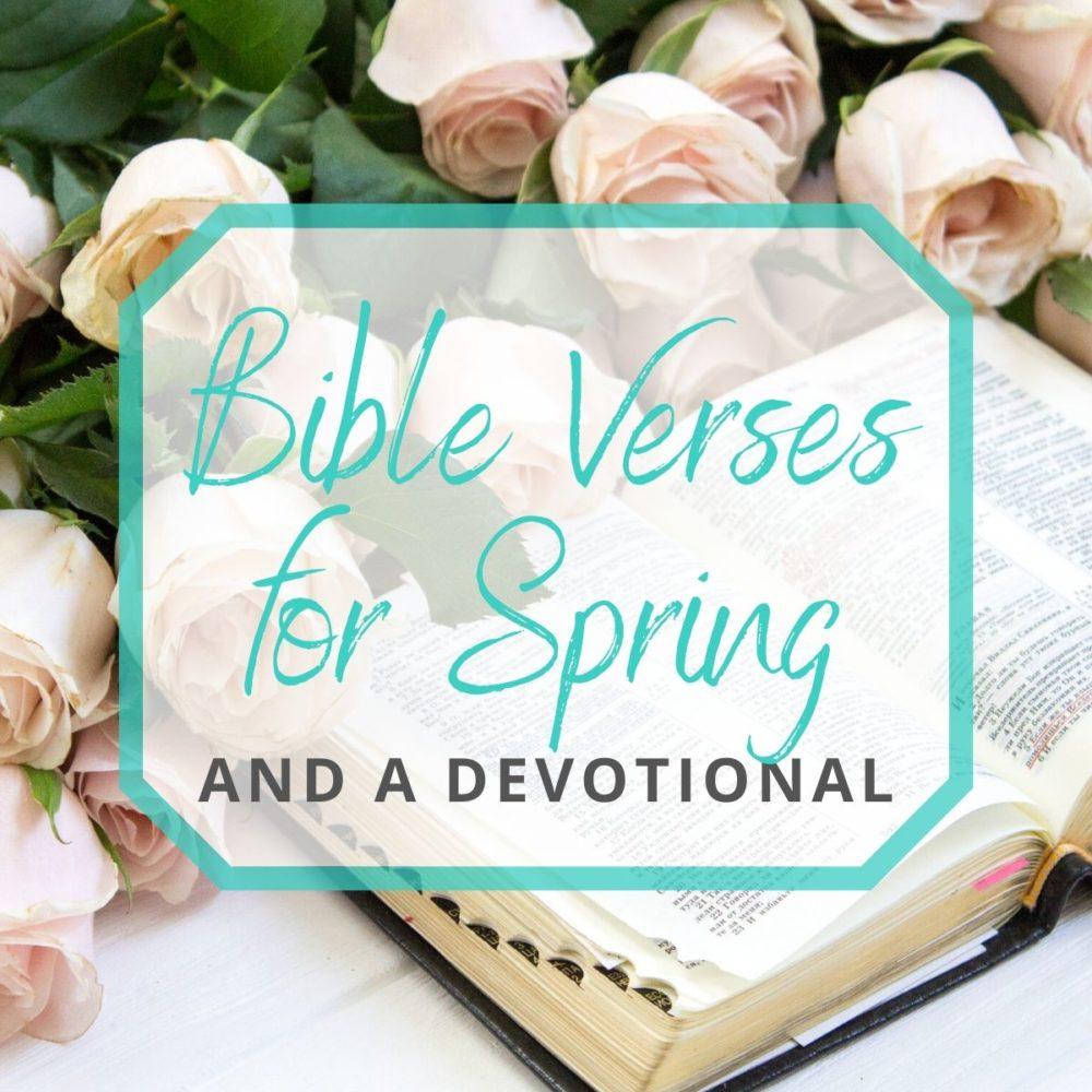 28 Bible Verses for Spring and a Devotional