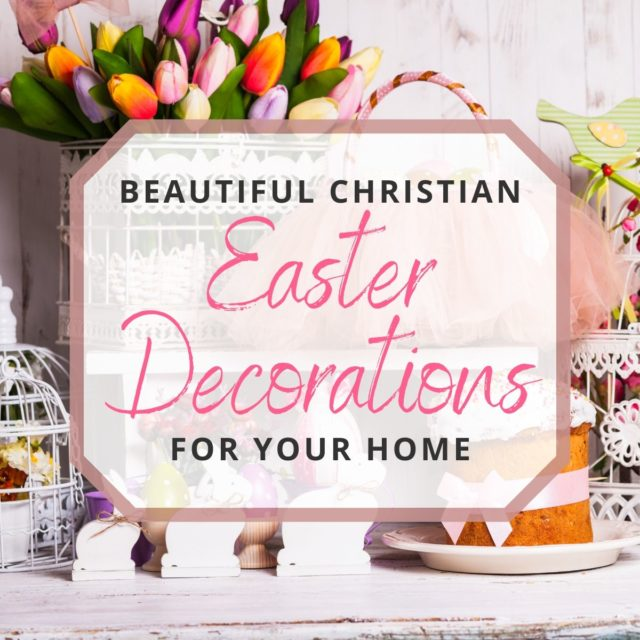 photo of different easter decorations