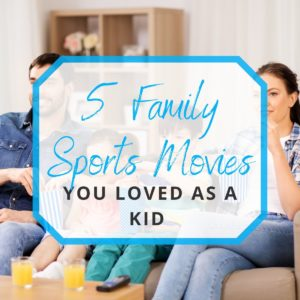 family watching a sports movie