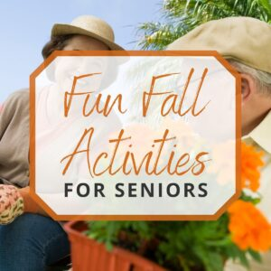 seniors doing gardening activities during the fall