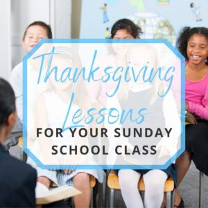 kids learning thanksgiving lessons during sunday school