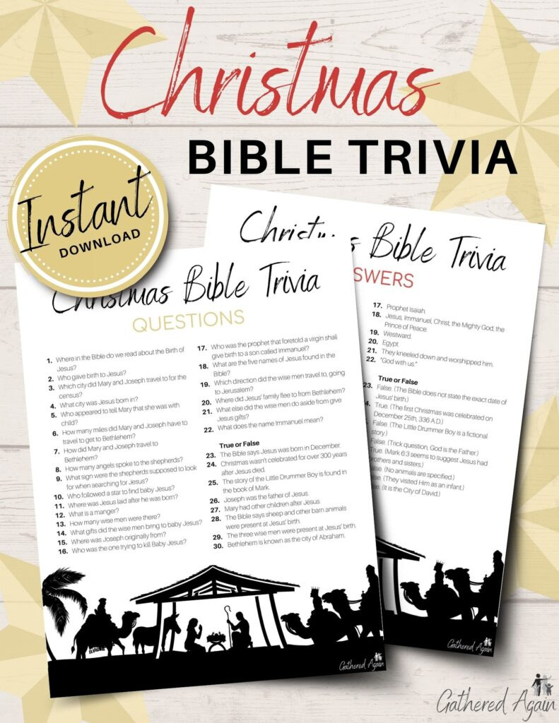30 Christmas Bible Trivia Questions To Quiz Your Family