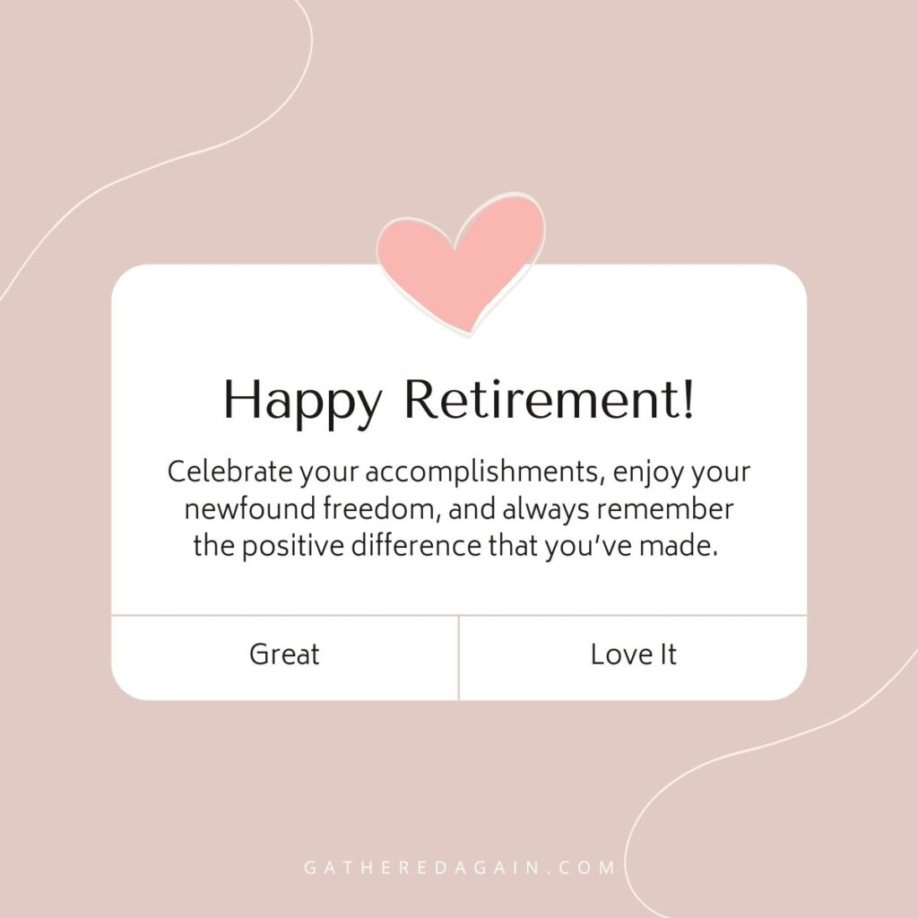 retirement post for mother on Facebook