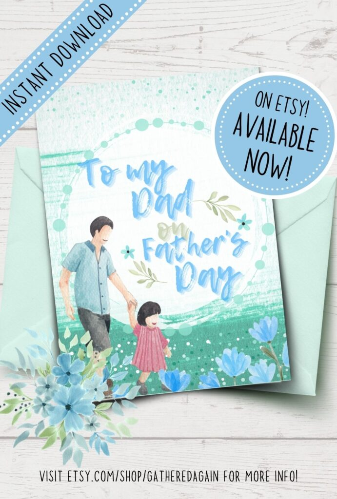 Father's Day card from daughter printable